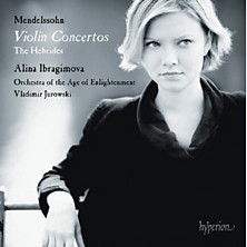 Review of Violin Concertos / The Hebrides (violin: Alina Ibragimova; Orchestra of the Age of Enlightenment; conductor: Vladimir Jurowski)