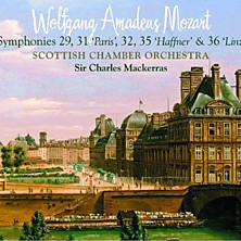 Review of Symphonies 29, 31 'Paris', 32, 35 'Haffner' & 36 'Linz' (feat. cond: Sir Charles Mackerras, orch: Scottish Chamber Orchestra)