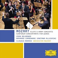 Review of Flute and Harp Concerto / Sinfonia Concertante for Winds (Orchestra Mozart; conductor: Claudio Abbado)