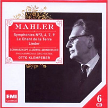 Review of Symphonies 2, 4, 7, 9; Lieder (conductor: Otto Klemperer; Philharmonia Orchestra)