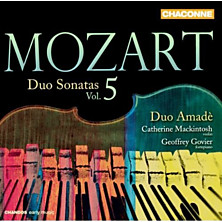 Review of Duo Sonatas Volume 5 (Duo Amadè; violin: Catherine Mackintosh; fortepiano: Geoffrey Govier)