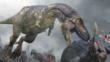Daspletosaurus attacking a horned dinosaur