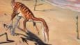 Coelophysis walking on sand