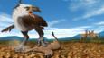 Terror bird with prey