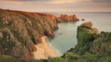 The coastal landscape of Cornwall, England