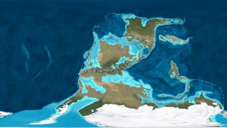 A map of the Earth in the Carboniferous Period