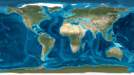 A map of the Earth in the Archean Era