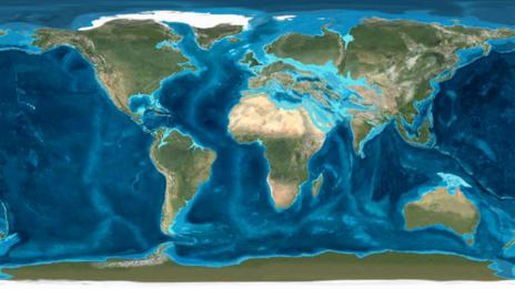 A map of the Earth in the Oligocene Epoch