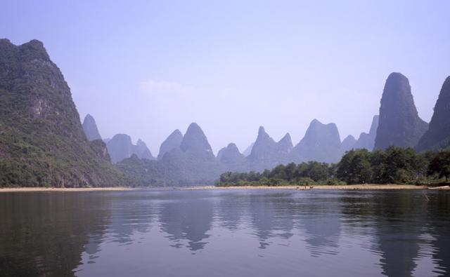 View along the LiJiang River Mountain, Guangxi, China