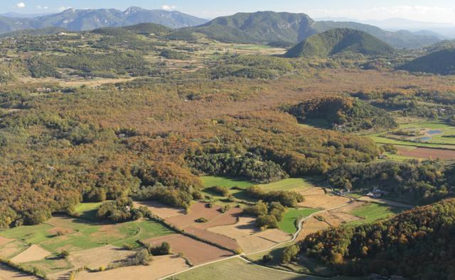 Zona Volcánica de la Garrotxa Natural Park in Girona Spain