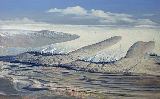 Front of an ice sheet that could have caused climate change and a mass extinction
