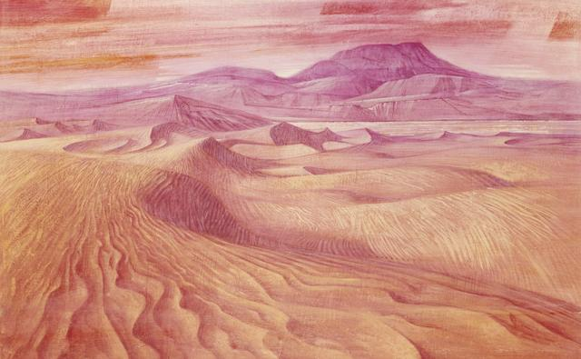 How the Permian desert with huge sandunes and sandstone mountains may have looked 290 to 248 million years ago