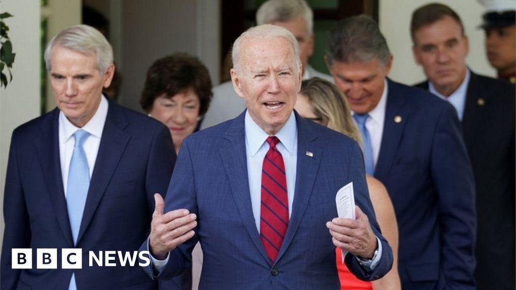 Biden backs bumper economic stimulus bill - with big caveat