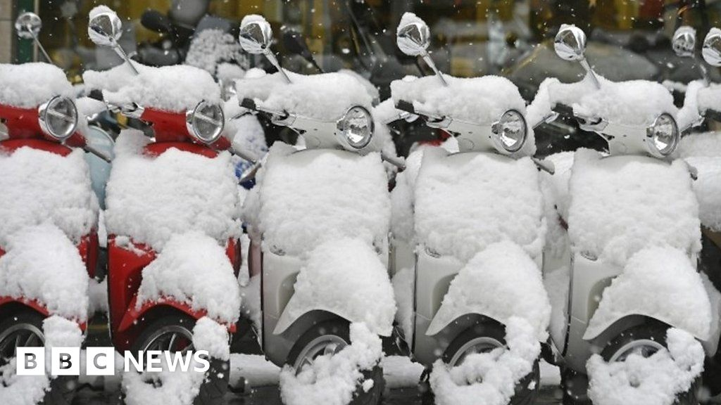 Heavy snow hits parts of Europe