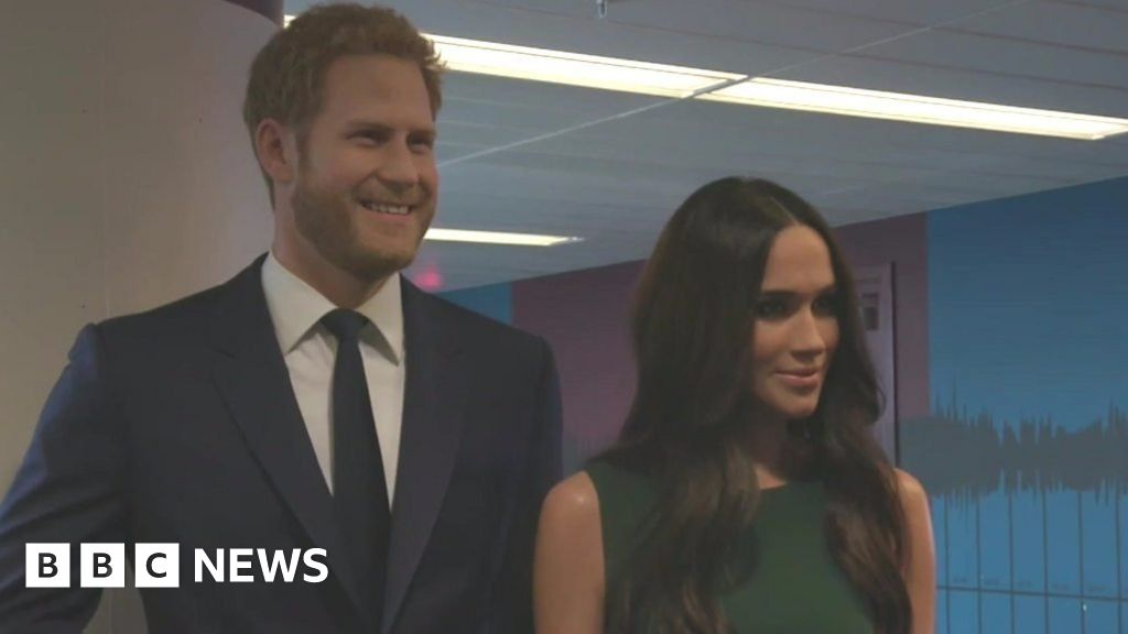 Prince Harry and Meghan Markle's waxworks visit BBC