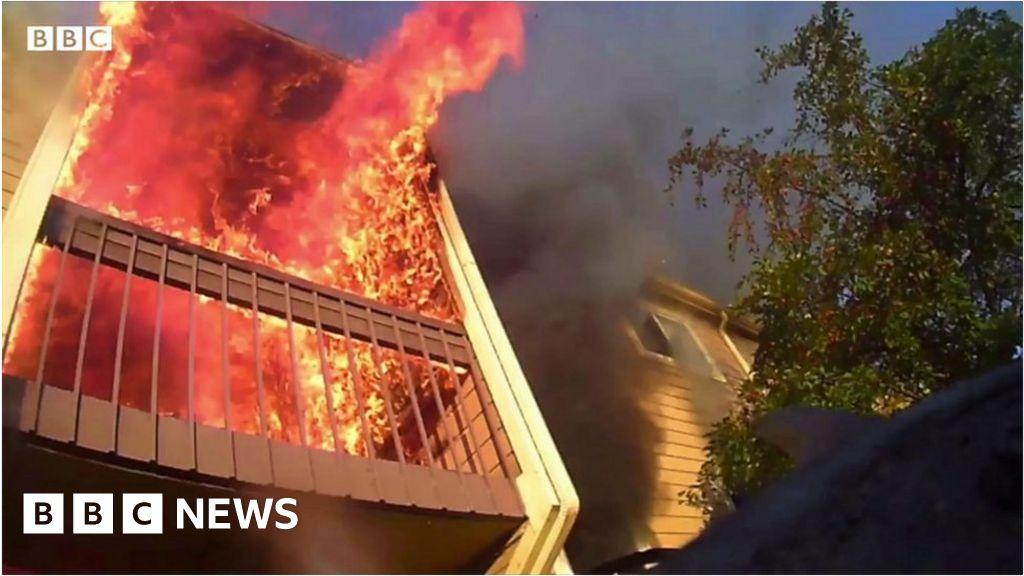 Dramatic body camera video shows Wichita fire rescue