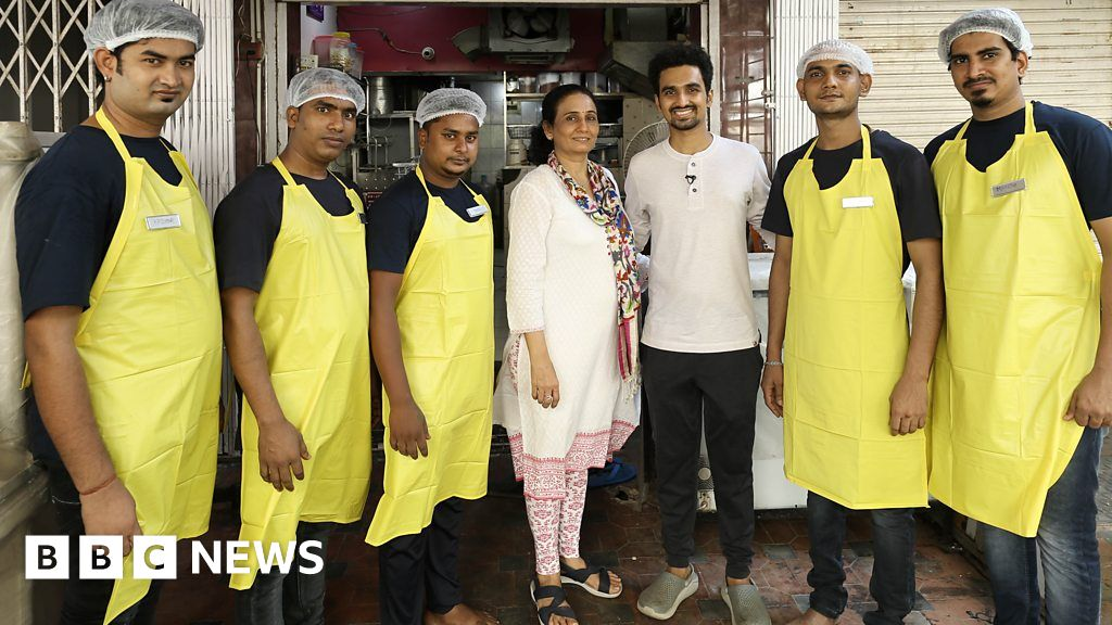 Covid in India: The mother and son feeding Mumbai's poor