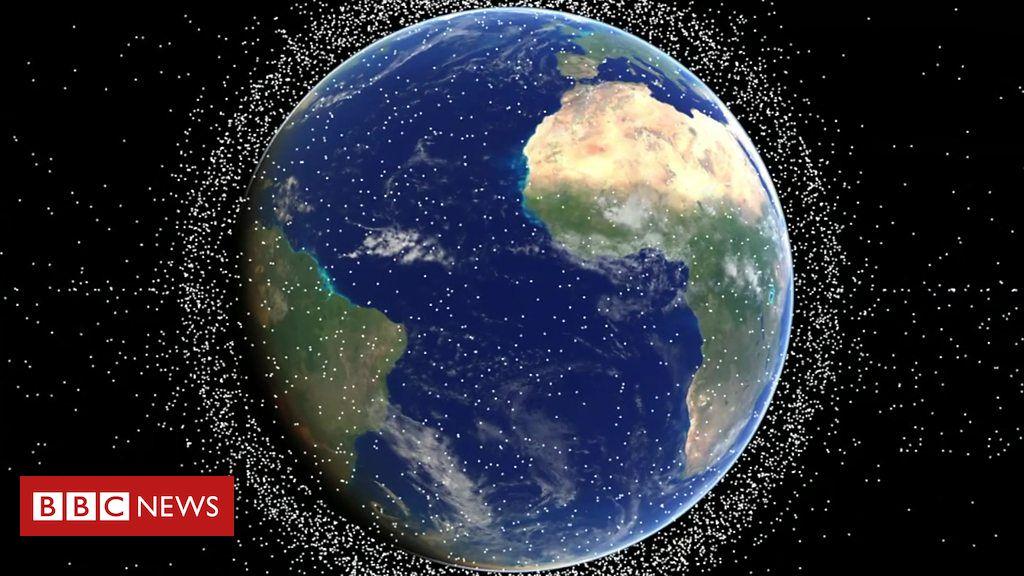 'Pescar', puxar e empurrar: os planos dos cientistas para 'recolher' o lixo espacial