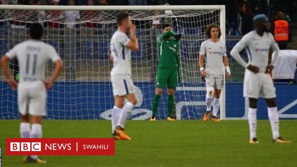 Roma Yaicharaza Chelsea 3 0 Vilabu Bingwa BBC News Swahili