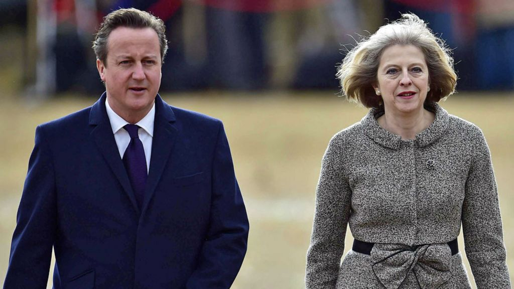How does Theresa May's cabinet compare to David Cameron's?