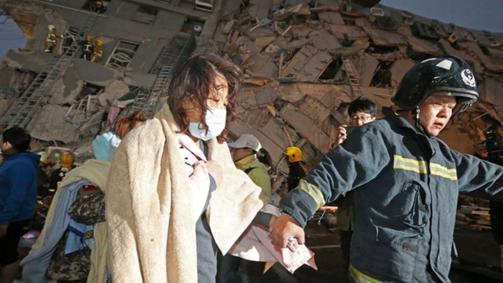 Taiwan earthquake: 'No way to escape', says mother of two