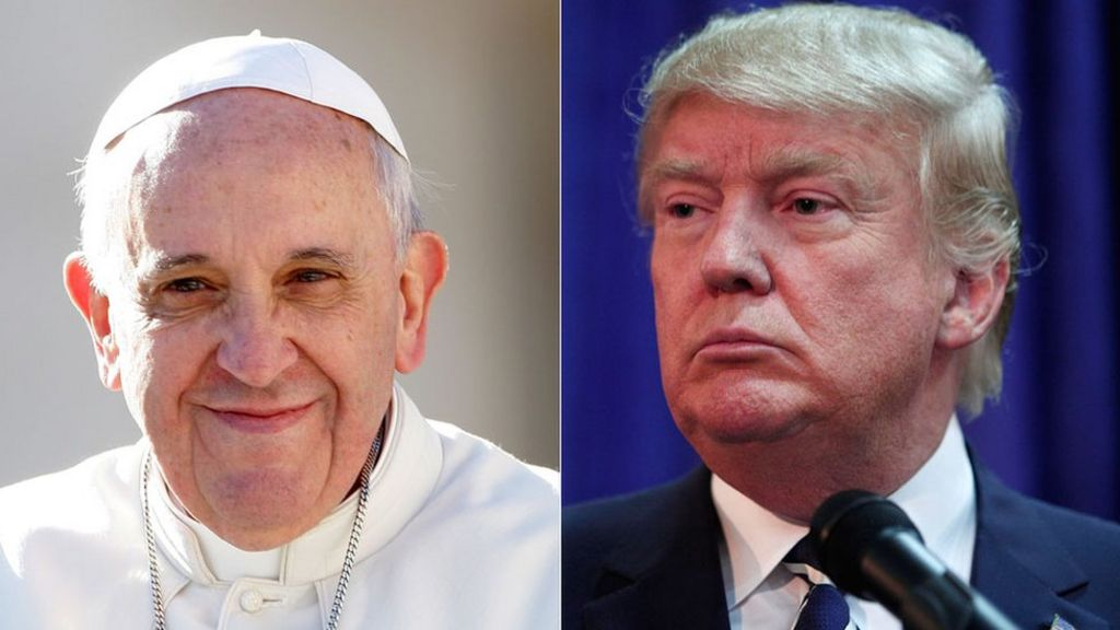 The Pope Questions Trumps Christianity - Magazine cover