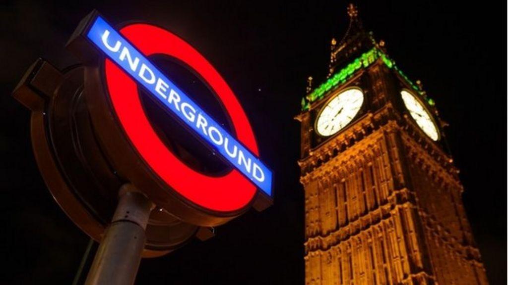 London Underground at night
