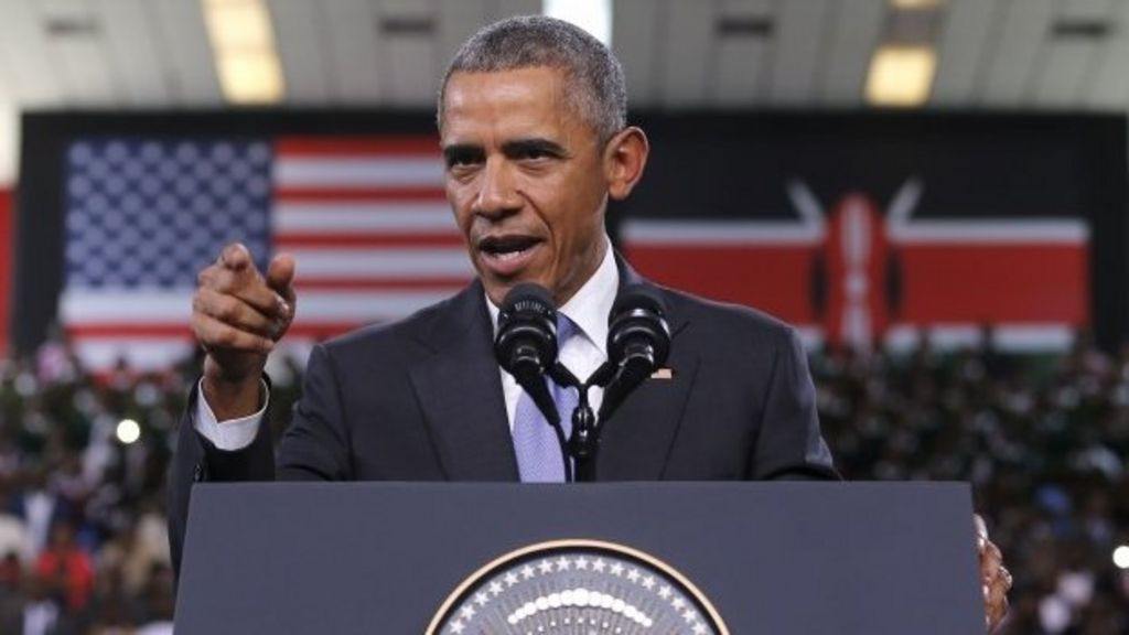 Obama in Kenya: Country at crossroads, says president - BBC News