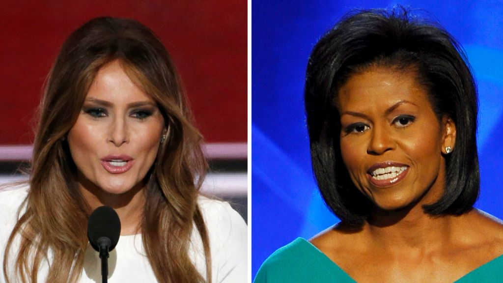 US election: Melania Trump 'plagiarised' Michelle Obama