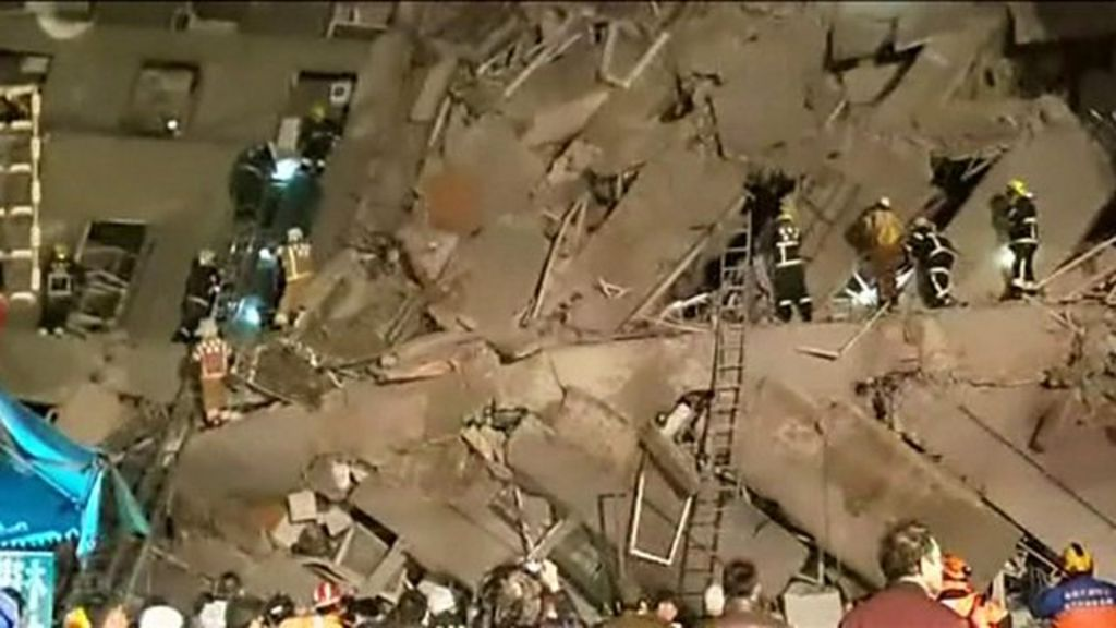Deadly earthquake topples buildings in Taiwan city of Tainan