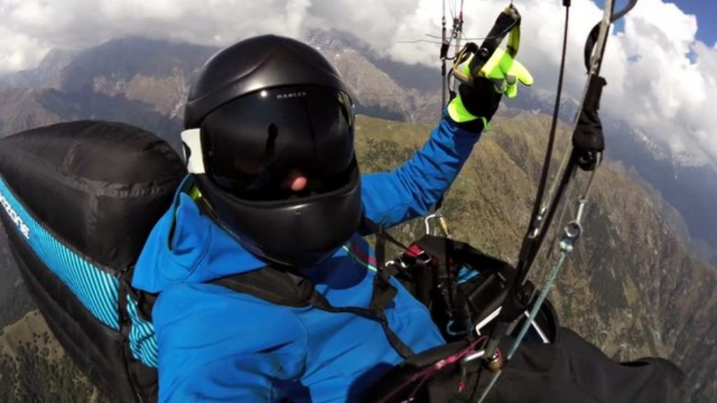Paraglider Daniel Montejo: 'You can't think of anything else' - BBC ...