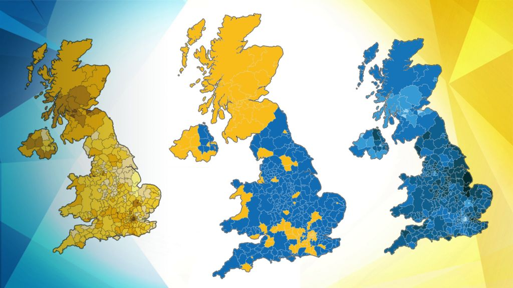 eu referendum  the result in maps and charts