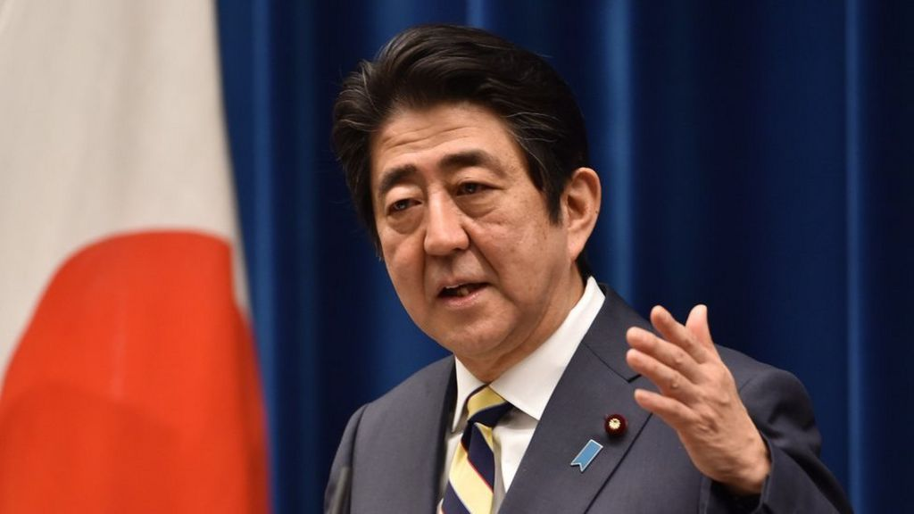 Japan PM Shinzo Abe urges talks for Russia peace treaty - BBC News
