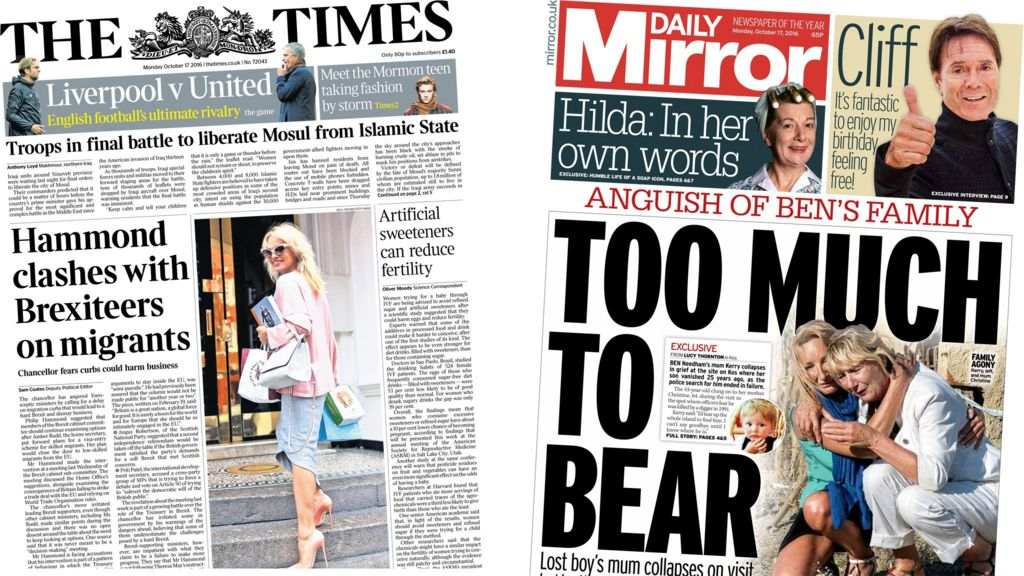 Brexit News: Newspaper Headlines: Brexit Fall-out And 'millions In