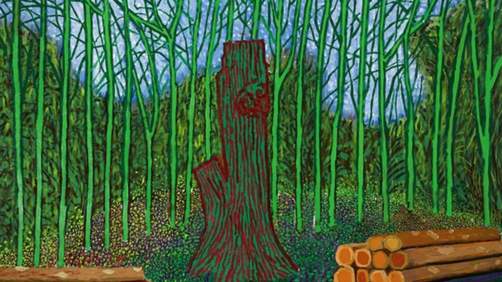 David hockney painting auctioned for more than 3m bbc news for David hockney painting