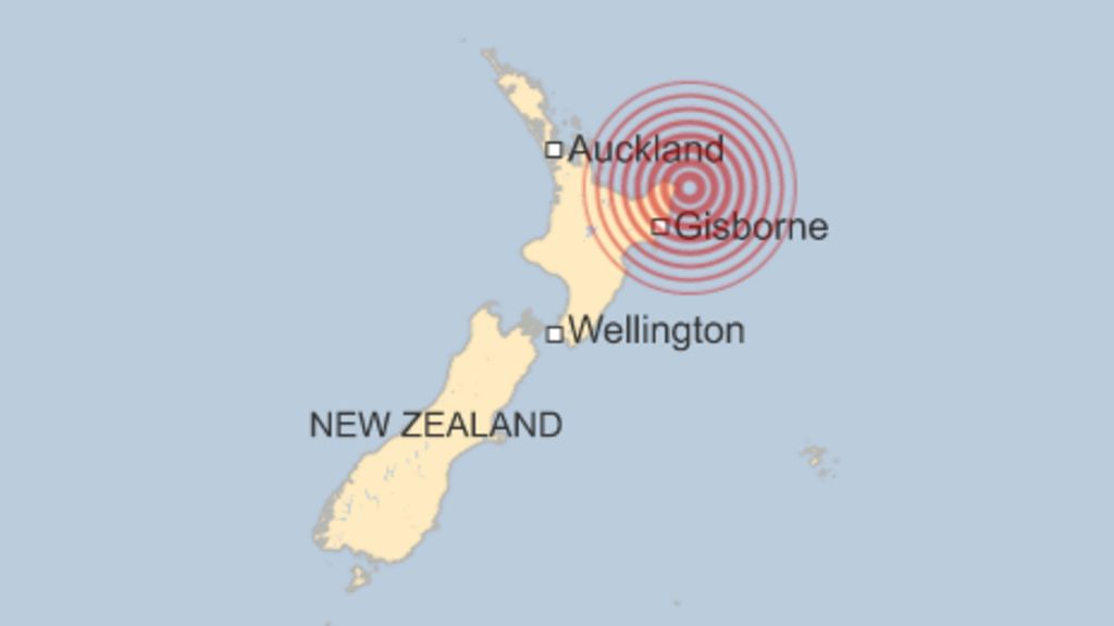 New Zealand News Picture: Powerful Quake Off North-east New Zealand Coast