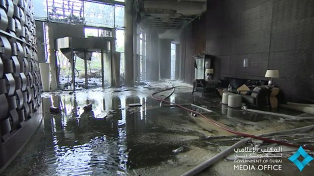Inside Dubai's fire-damaged hotel