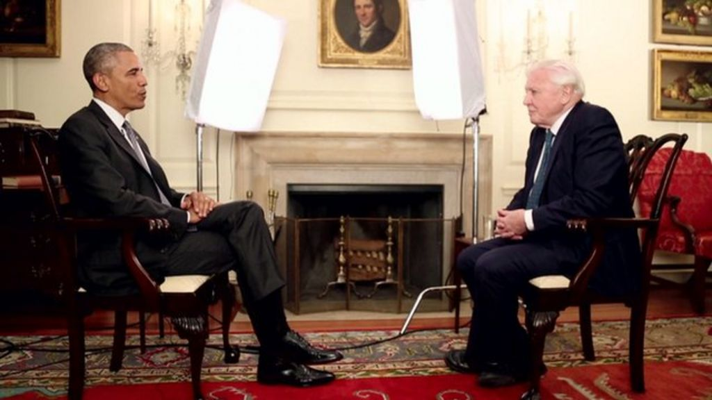 Sir David Attenborough Tells Us President How To Save