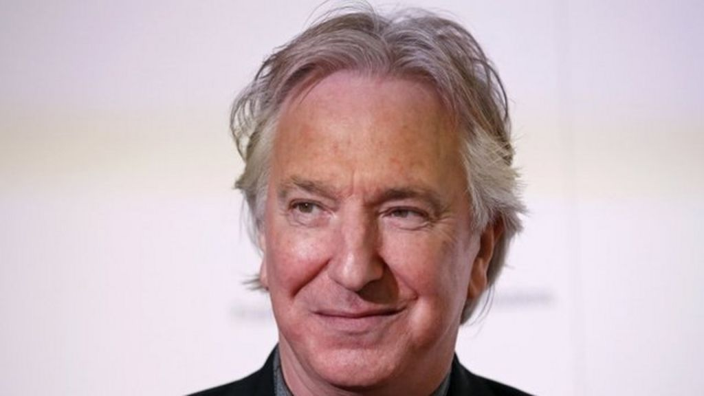 Alan Rickman played Professor Snape in the Harry Potter films ...