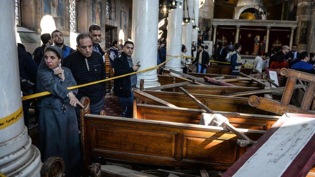 مصر: هل يؤشر تفجير كنيسة البطرسية لتقصير أمني؟ - BBC Arabic