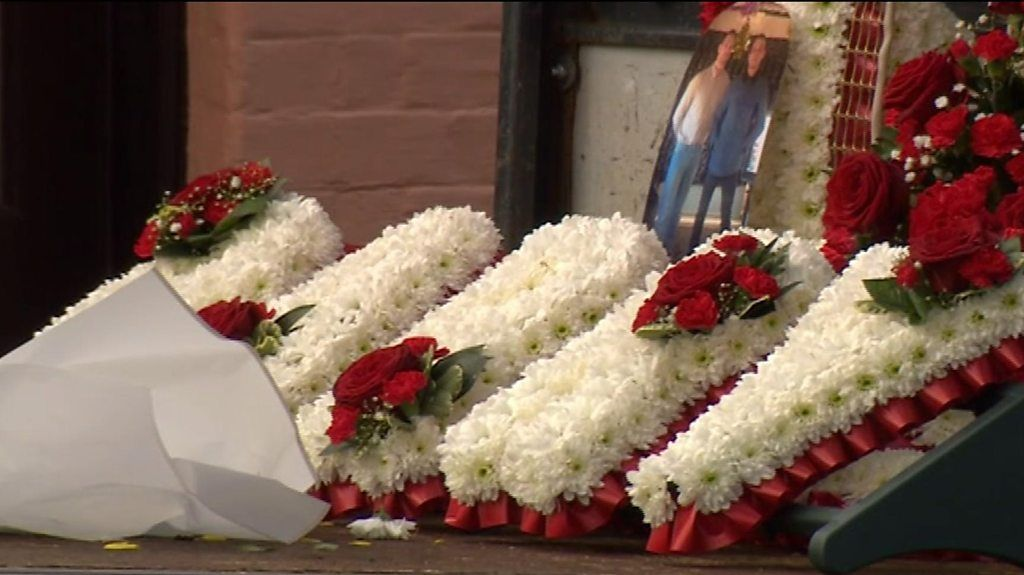 Family and friends attend barry street s funeral at sudbury bbc news