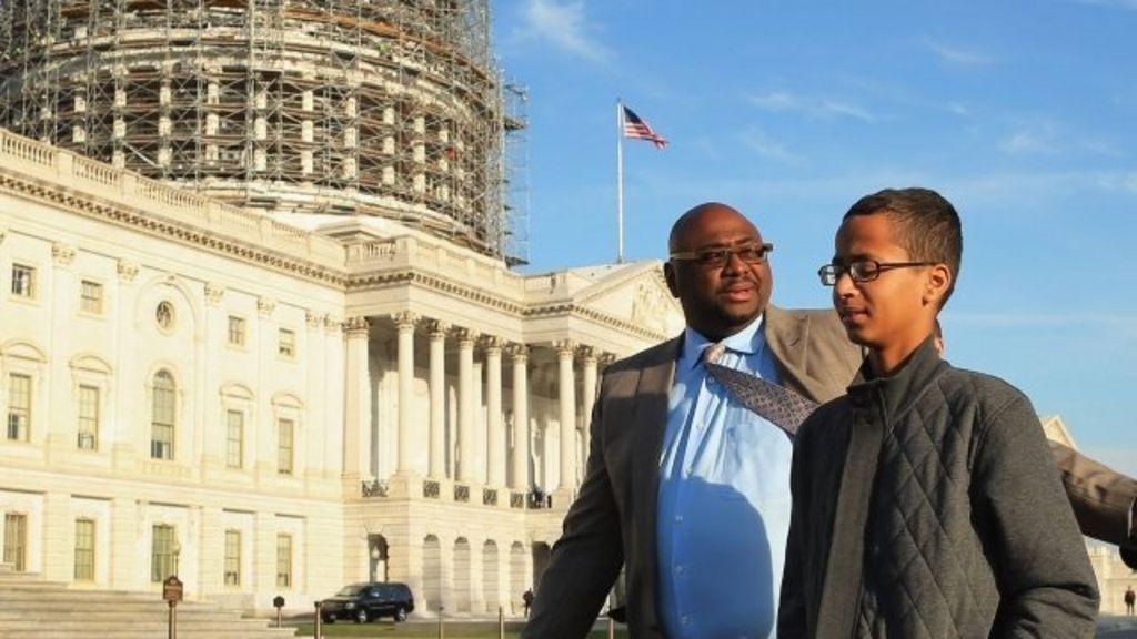 US 'clock boy' meets US President Barack Obama - BBC News