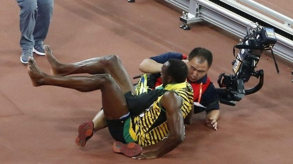 Usain Bolt knocked down in Beijing - in pictures - BBC News