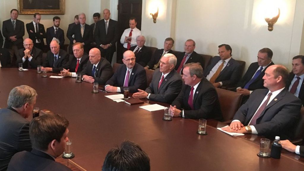 All-male White House health bill photo sparks anger