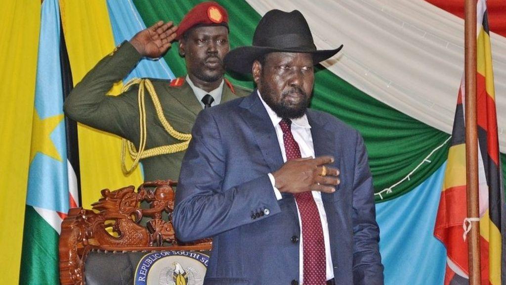 South Sudan President Salva Kiir signs peace deal - BBC News