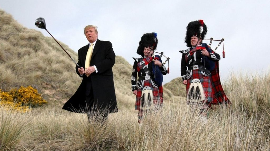 Donald Trump accused of blackmailing Scotland - BBC News
