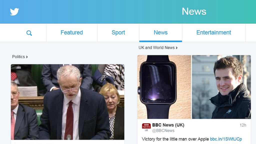 Bbc News Twitter: Twitter Launches 'engaging' New Homepage