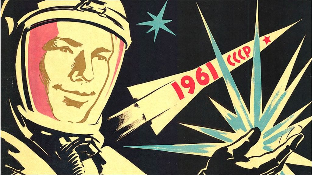 Posters of the golden age of Soviet cosmonauts - BBC News