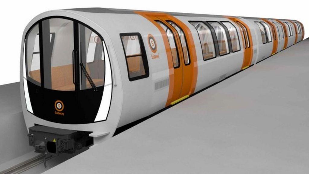 Image of new Glasgow subway train