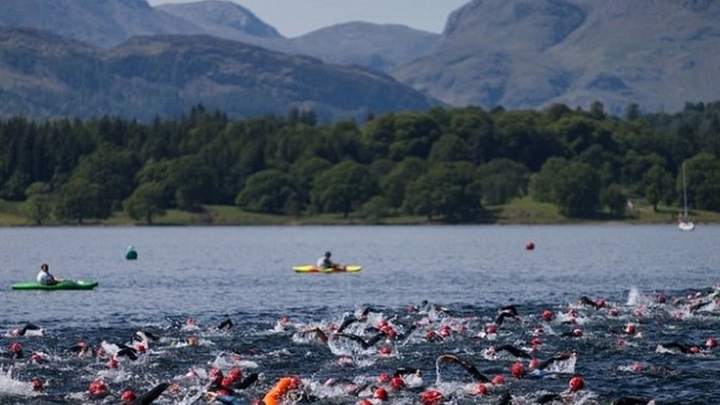 Great North Swim 10 000 Expected For Windermere Open Water Challenge Bbc News